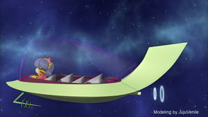 Jetsons Spacecar 3DCG