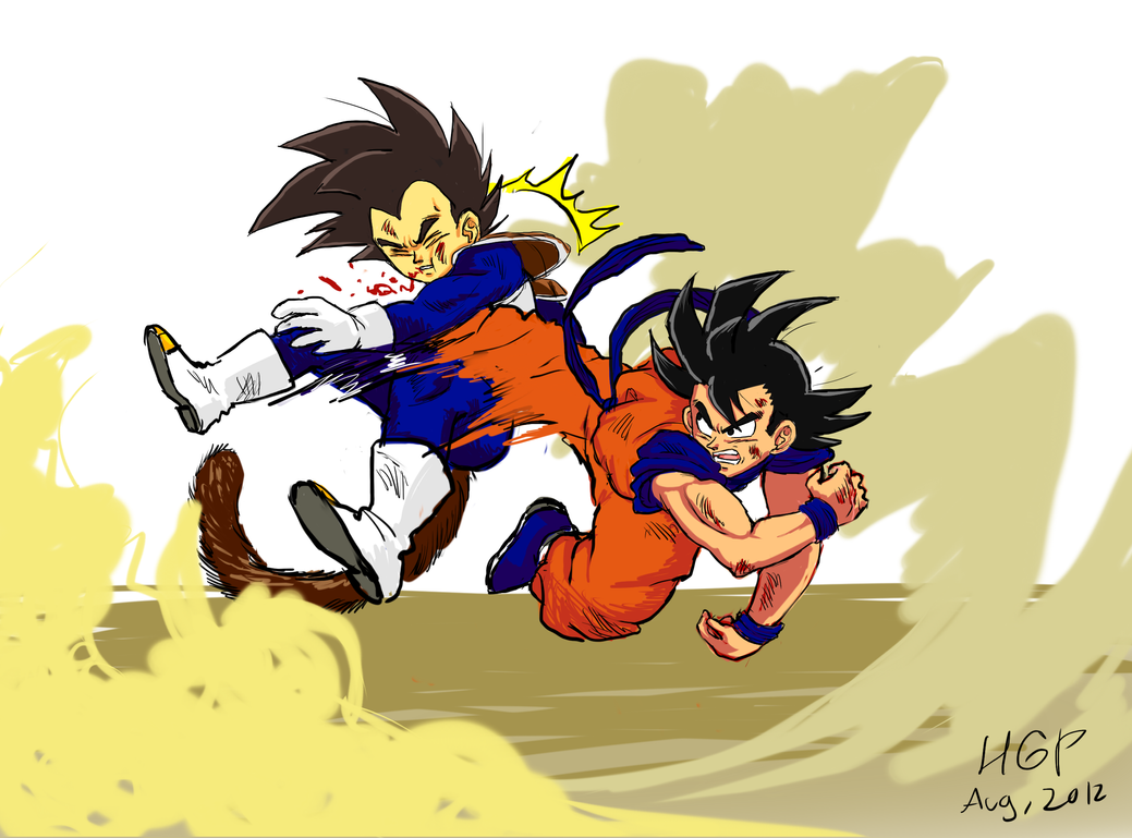 Goku fucking vegeta pics — 3