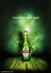refreshing beer bottle poster by pratt29