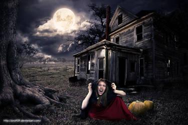 scary vampire house