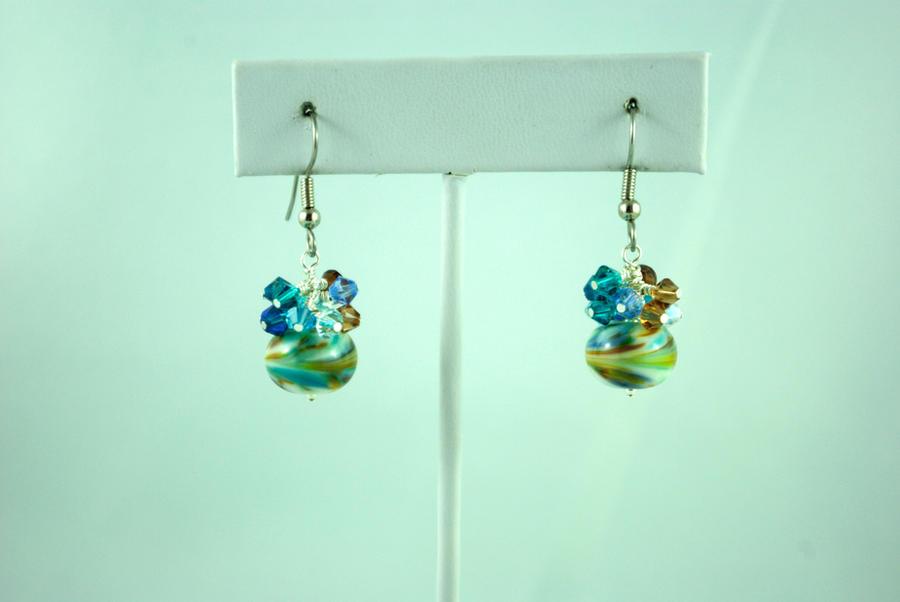 Peacock Strut Earrings by michelleaudette