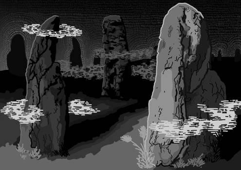 Illustration for book Night desert