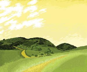 Illustration for Return ticket - Road of life