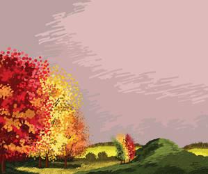 Illustration for Return ticket - autumn