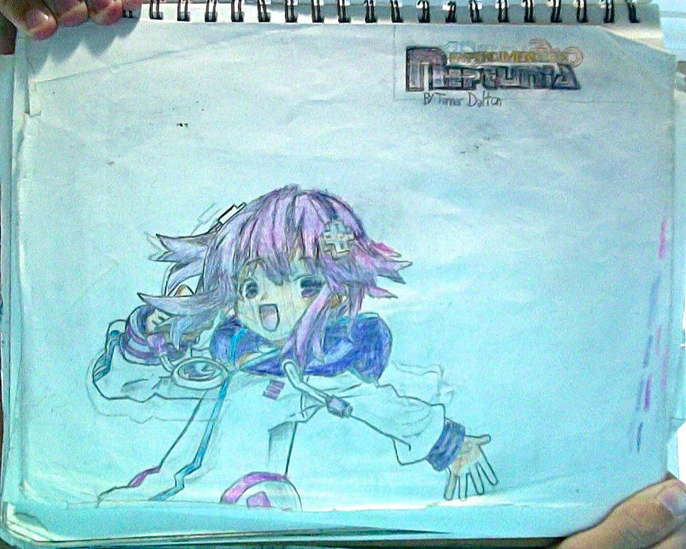 Neptune + HyperD.Neptunia logo drawing (Unflipped) by TannMann64