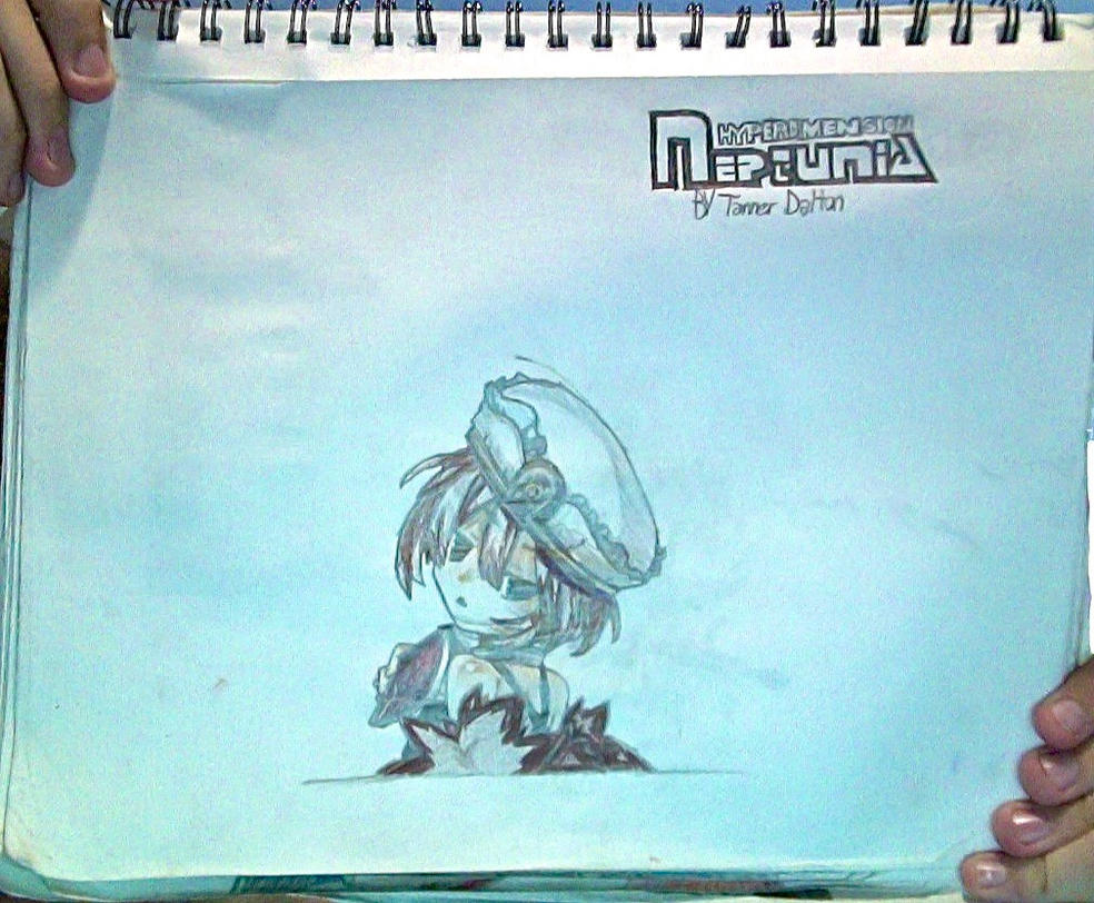 Blanc + (Uncolored) H-D.N.logo drawing (Unflipped) by TannMann64