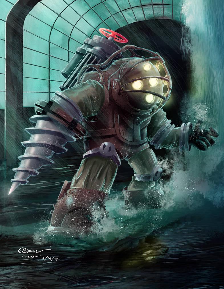 Big Daddy Bioshock Fanart by AaronDraws8