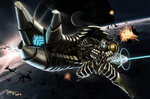 Galactic Warrior by berserking