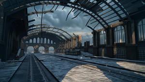 Himmelsdorf train station - snow version