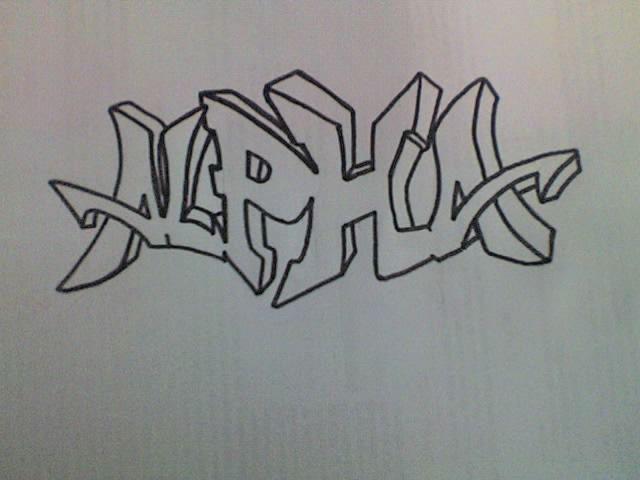 Simple graffiti alphabet the image kid - Graffiti simple ...