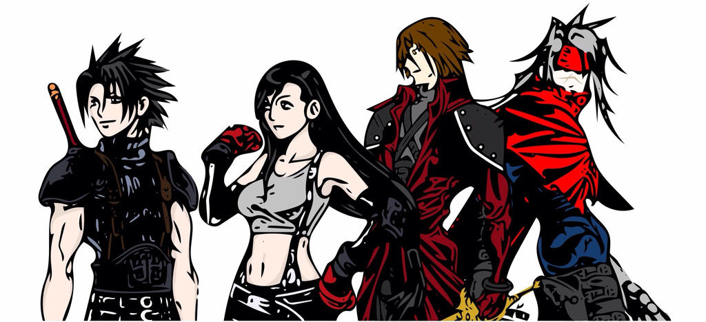 my favorite final fantasy 7 characters by jemchiee on