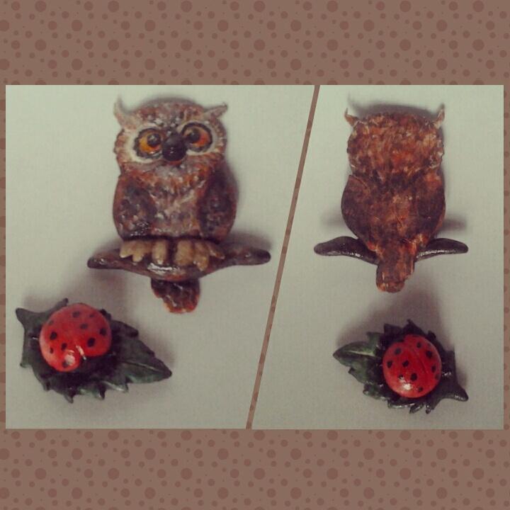 owl and ladybug by viktori-Dv