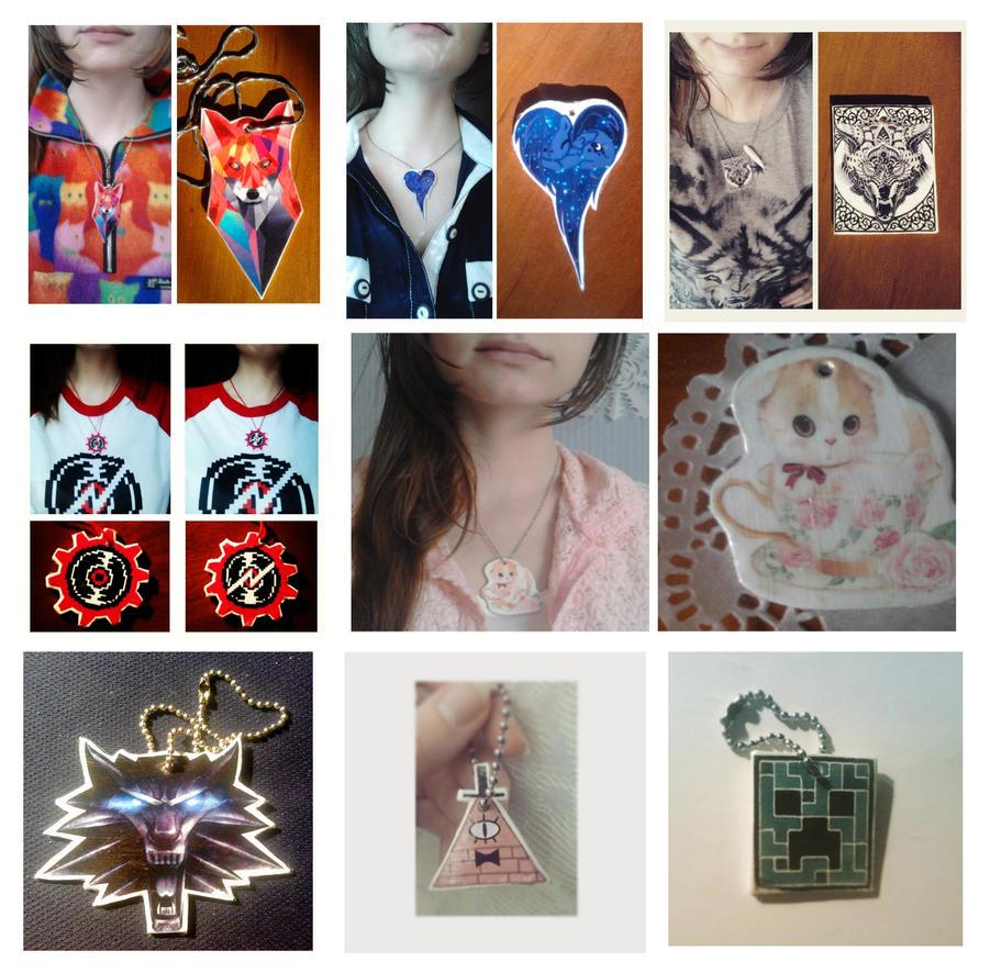 trinkets and pendants by viktori-Dv