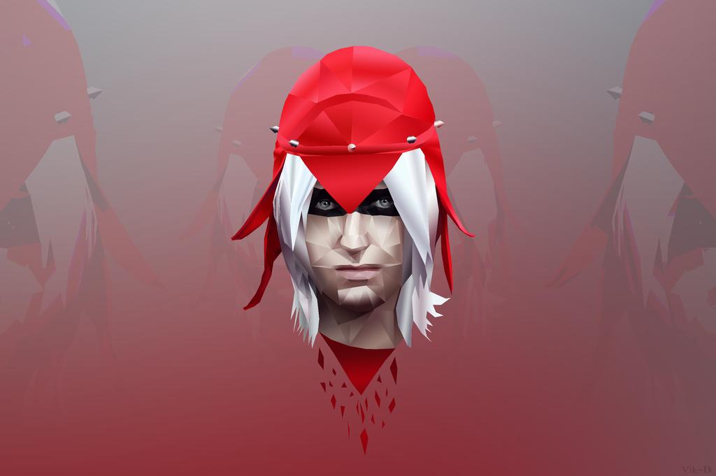 Polygonal Red fashion by viktori-Dv