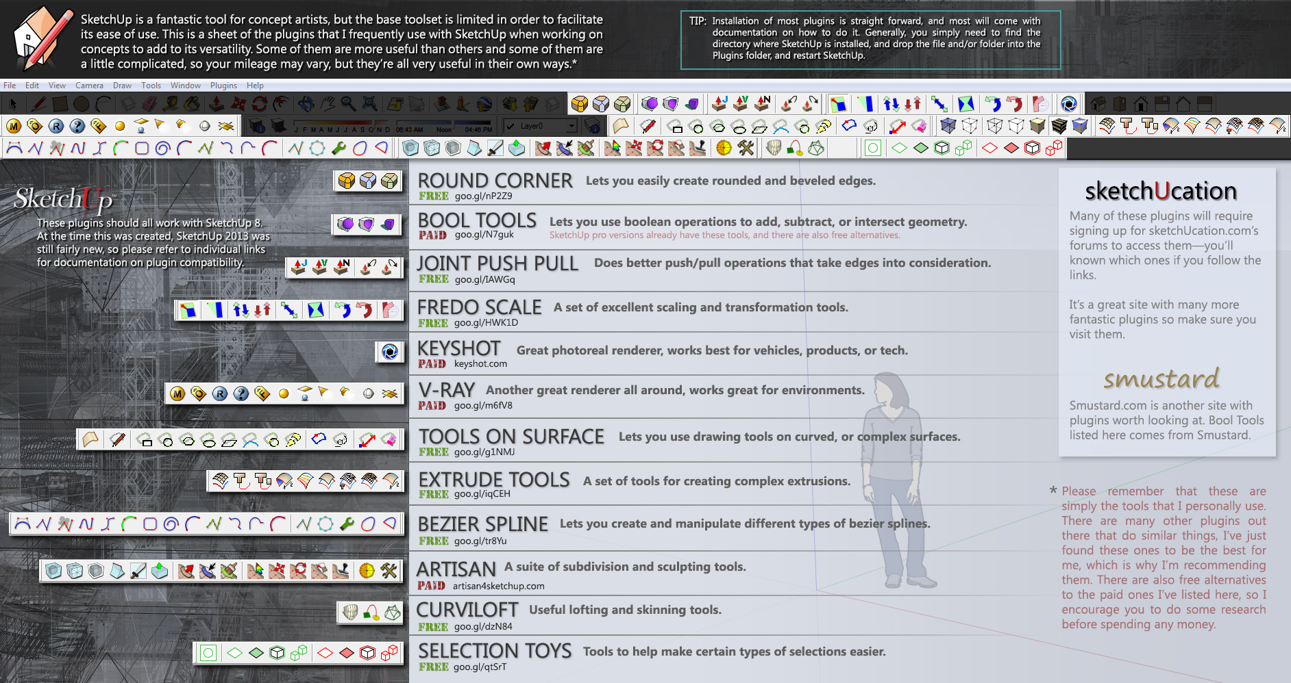 Useful SketchUp Plugins (Mostly Free) by Rahll on DeviantArt