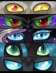 P:Speedpaint:MLP Eyes of Villans by TomoCreations