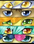 P: Speedpaint:MLP eyes group 7 by TomoCreations