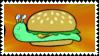 A Burger Slug Stamp by PumpkinView