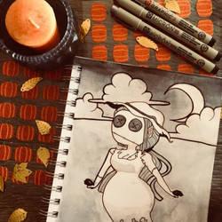 Inktober Day One: Scarecrow by pumpkinxspice