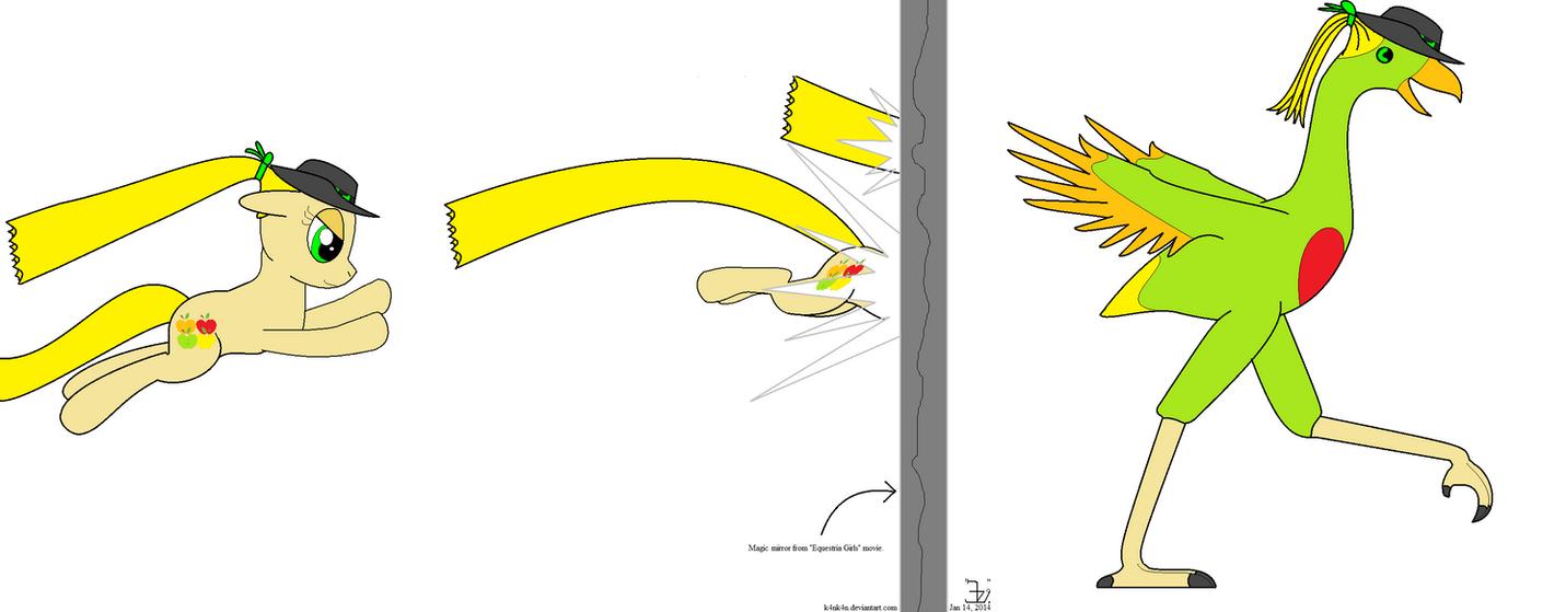 Artist Training Ground _ A pony transforming by K4nK4n