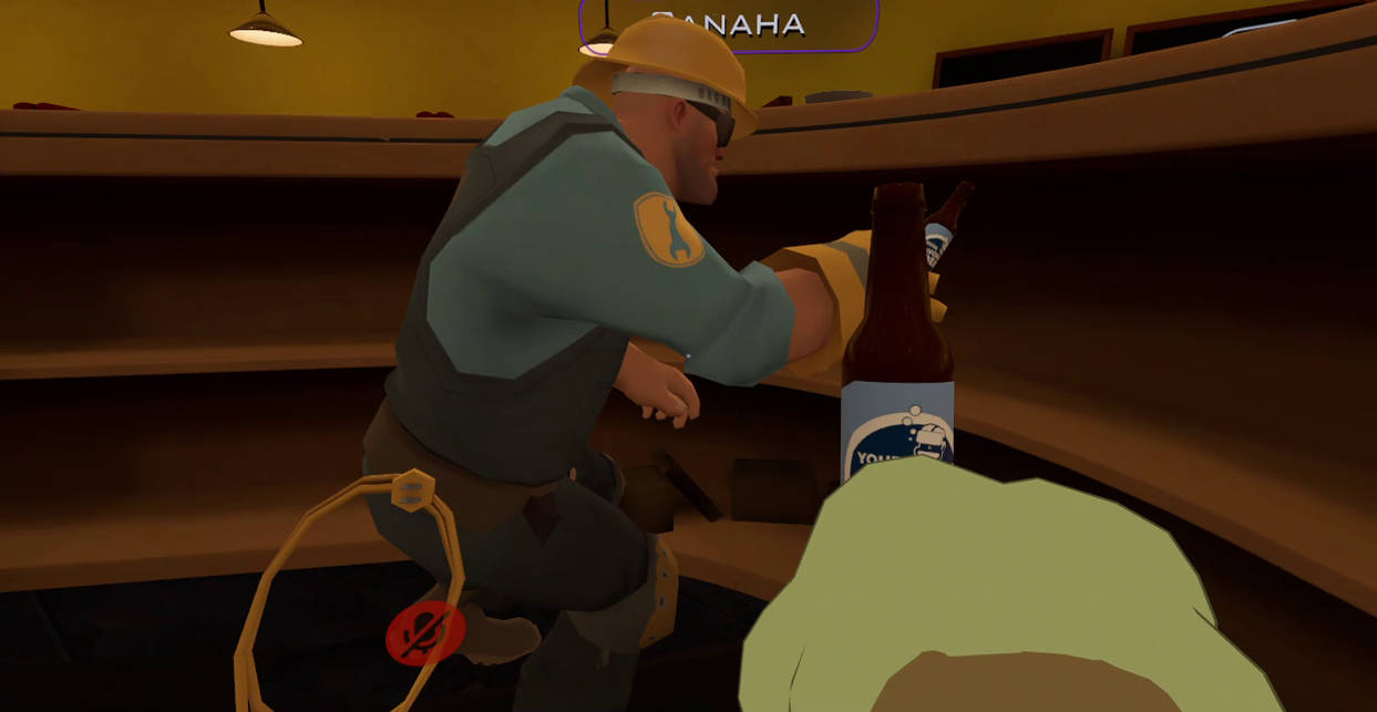 Helping Engineer with his beer bottles _ VRChat by K4nK4n on DeviantArt