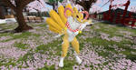 Kyubimon at a Japanese temple (5) by K4nK4n