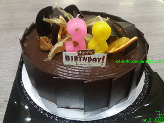 Fudgy chocolate birthday cake by K4nK4n