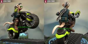 Cyberpunk Biker Mouse made using Hero Forge by K4nK4n