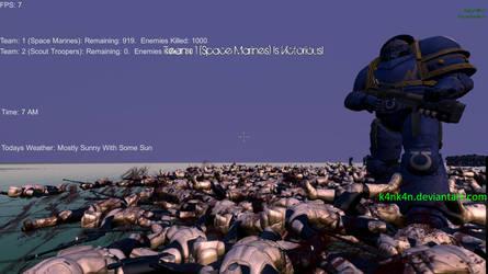 1000 Scout Troopers VS 1000 Space Marines by K4nK4n