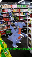 Gabite in a convenience store by K4nK4n