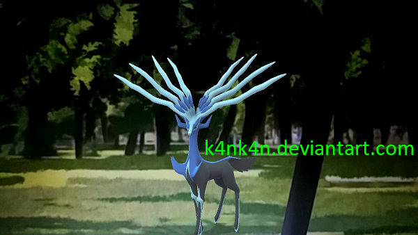 Xerneas in the forest