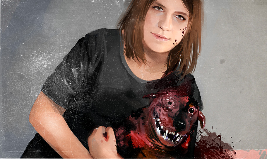 Patricia's portrait by jabberholic