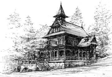 Wooden church in Jaszczurowka, Poland by agnieszkawajszczyk