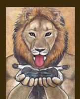 Thirsty Lion by RuntyTiger
