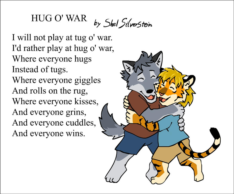 FamousWords: Hug O' War by RuntyTiger