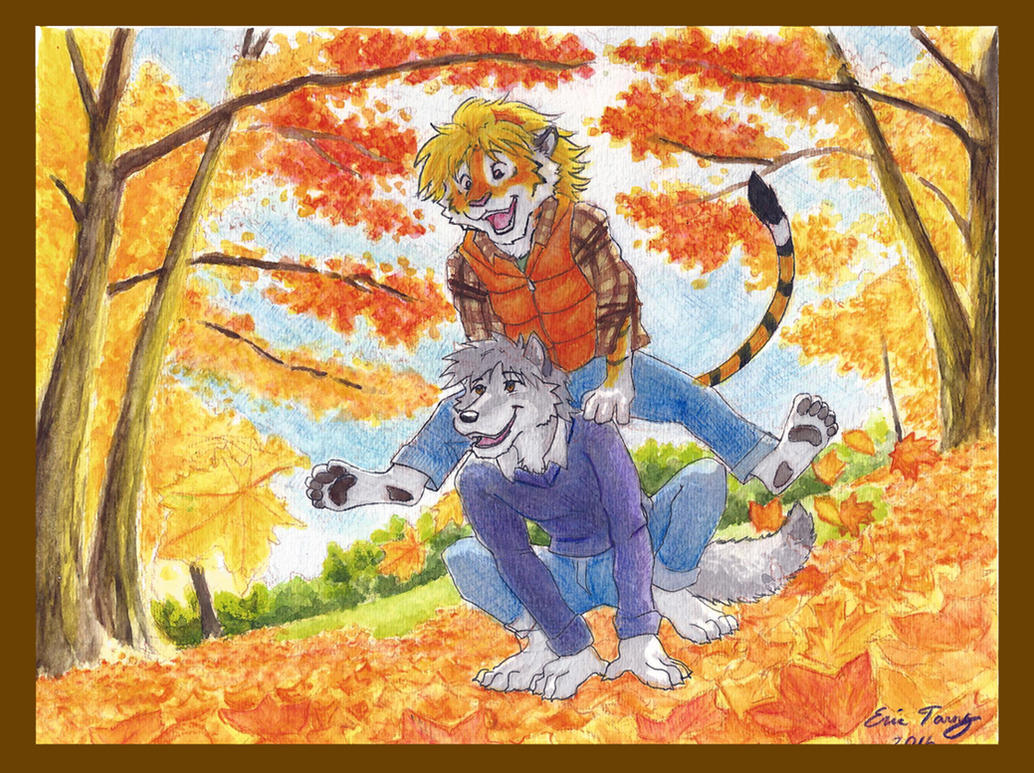 Leap Frog in Autumn by RuntyTiger