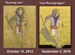 Lion Running Comparison