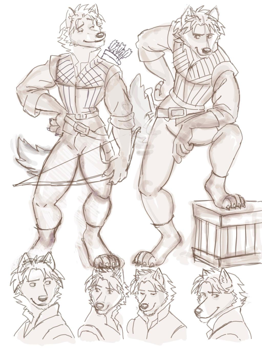 Sketch 9.27.2021: If Flynn is a Furry Wolf 02