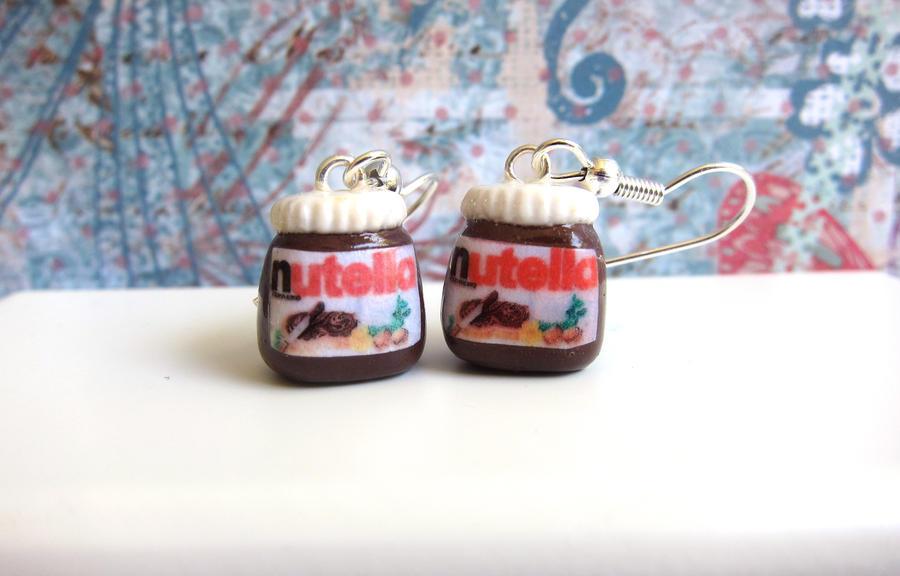 Nutella Jar Earrings by LittleSweetDreams