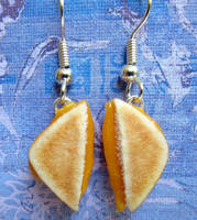 More Grilled Cheese Earrings by LittleSweetDreams