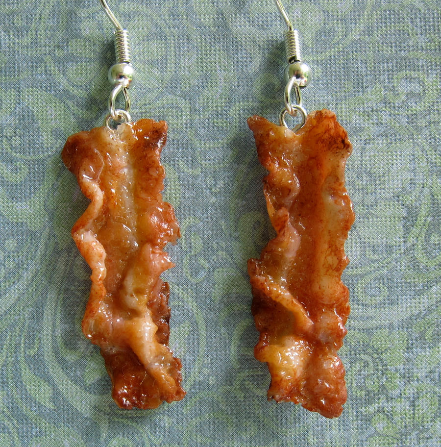 New Bacon Earrings by LittleSweetDreams