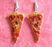 Pepperoni Pizza Earrings 2013 by LittleSweetDreams