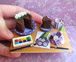 Cake and Painting Scene