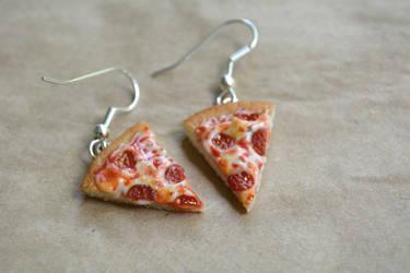 Pepperoni Pizza Earrings 2015