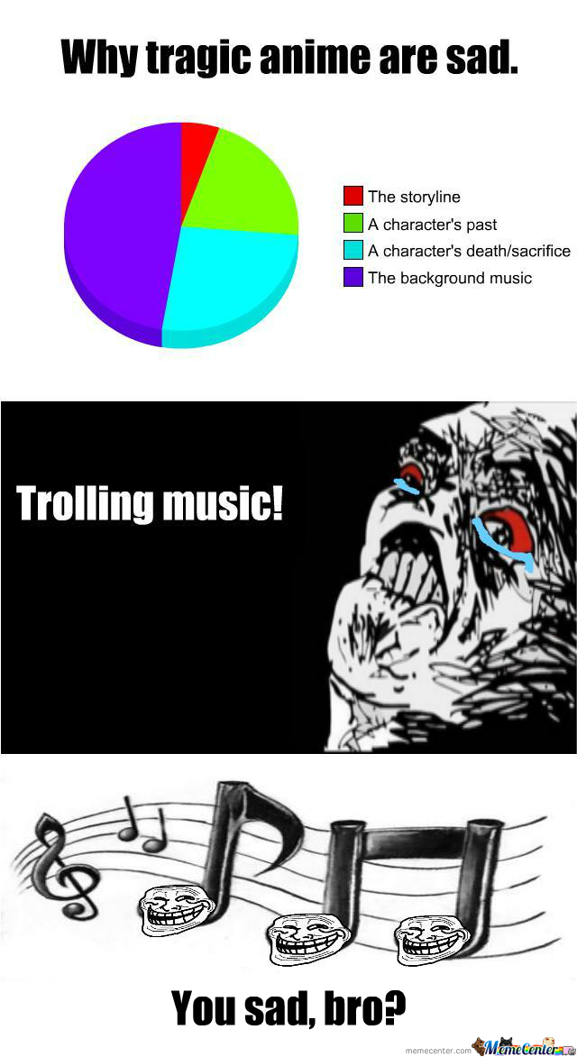 Why sad anime is sad: trolling music by Tenzanification on ...
