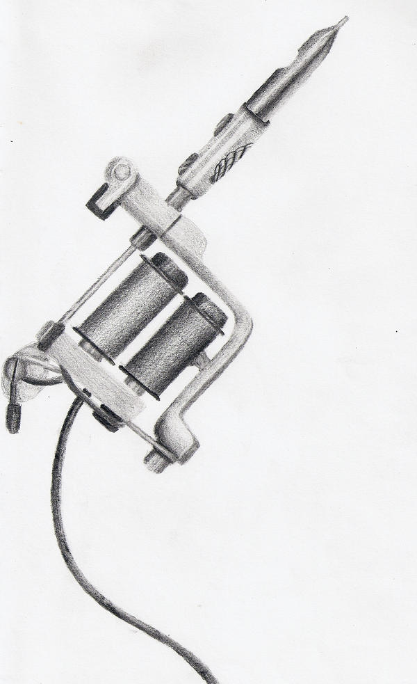 Shell tattoo gun by kaly89 on deviantart for Tattoo gun parts
