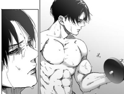 working out by Rivaille-No-Regrets