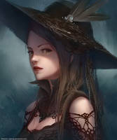 Gothic Girl Portrait by ADPong