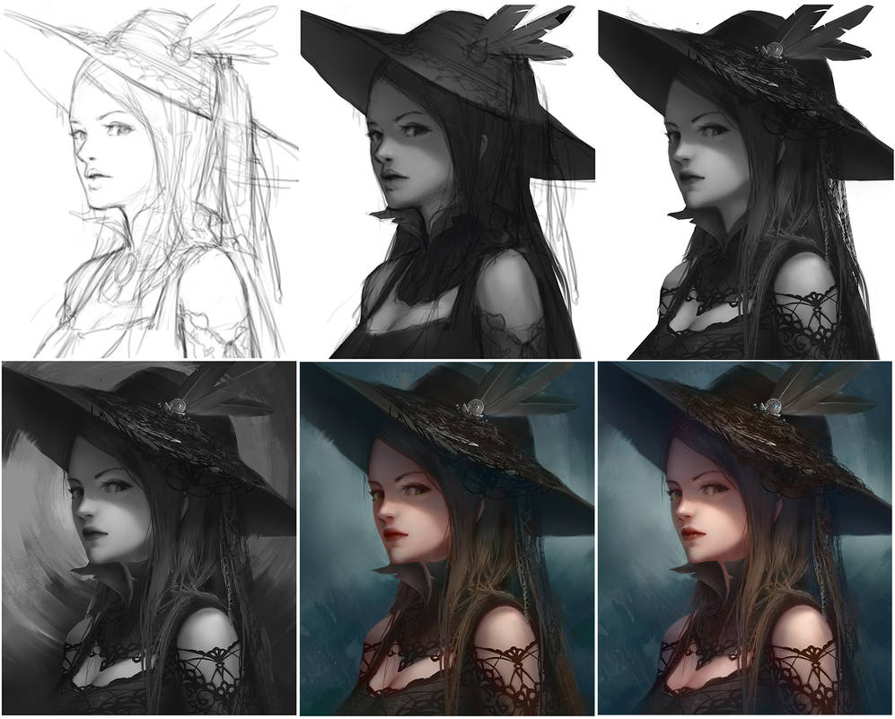 Gothic Girl progress by ADPong