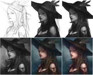 Gothic Girl progress
